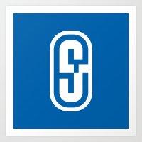 S04 Typographic Logo Art Print