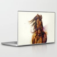 horse Laptop & iPad Skins featuring Horse by beart24