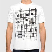FENCES Mens Fitted Tee White SMALL