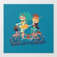 Medusa & The Pied Piper Canvas Print