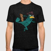 My Perry the Platypus Mens Fitted Tee Tri-Black SMALL