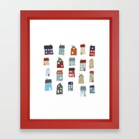 Little Houses Framed Art Print
