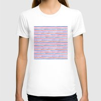 stripes T-shirts featuring Stripes.  by Elena O'Neill