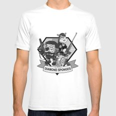 Diamond Sponges Mens Fitted Tee SMALL White