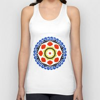Bold and bright beauty of suzani patterns ver.5 Unisex Tank Top