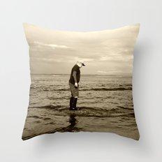 A Boy and The Sea Throw Pillow