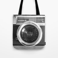 Tote Bag featuring Camera by Nicklas Gustafsson