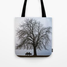 That night we sat together under a tree Tote Bag