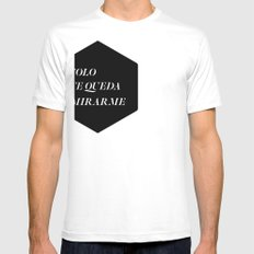 Solo White Mens Fitted Tee SMALL