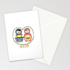 I {❤} Matryoshka Stationery Cards