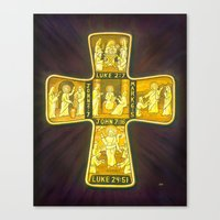His Life Cross Canvas Print