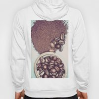 Coffee Beans and Coffee Ground Hoody