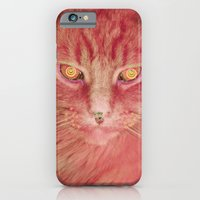 iPhone & iPod Case featuring Pink Cat by Cat Kitsch