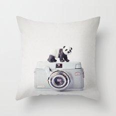 The Panda and The Ikonette Throw Pillow