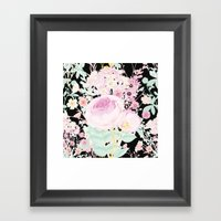 Flower Bouquet in Black Framed Art Print