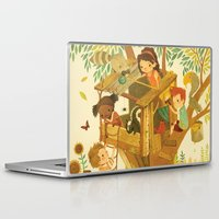 house Laptop & iPad Skins featuring Our House In the Woods by Teagan White