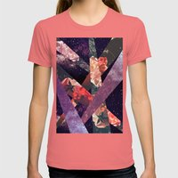 ROSES IN THE GALAXY Womens Fitted Tee Pomegranate SMALL