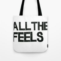Tote Bag featuring ALL THE FEELS by Julia Hendrickson