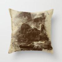 the castle Throw Pillow