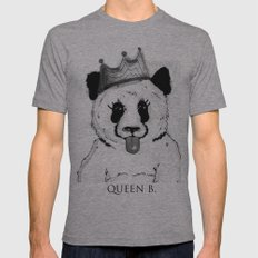 Queen B Mens Fitted Tee Athletic Grey SMALL