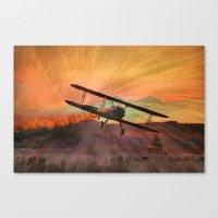 Stearman Sunset Canvas Print