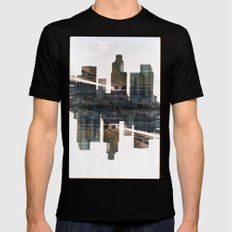 Landscapes c3 (35mm Double Exposure) SMALL Mens Fitted Tee Black