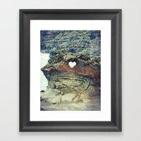 Corazón De La Playa Framed Art Print