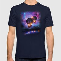 Space Trip. Mens Fitted Tee Navy SMALL