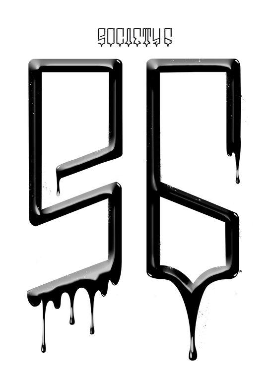 S6 TEE BLACK PAINT Art Print