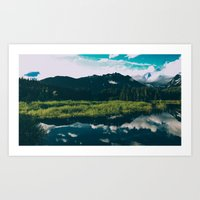 North Cascades Hidden La… Art Print
