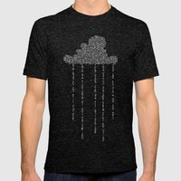 Cloud in Blue Mens Fitted Tee Tri-Black SMALL