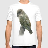 Kea Pattern Mens Fitted Tee White SMALL