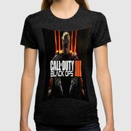 Call Of Duty  , Call Of … Womens Fitted Tee Tri-Black SMALL