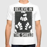 The Shield - WWE Mens Fitted Tee White SMALL