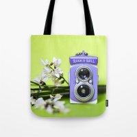 Mini camera Bi optics Tote Bag