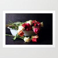 Las Rosas Art Print