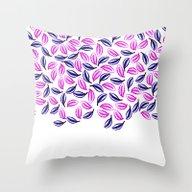 Trendy Pink Purple Water… Throw Pillow