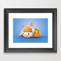 Happy Squeezer Framed Art Print