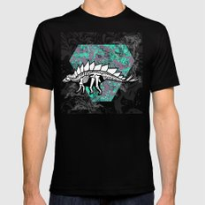 Stegosaur Fossil Mens Fitted Tee Black SMALL