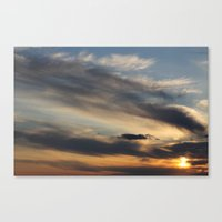 Sunset Over Lake Michiga… Canvas Print