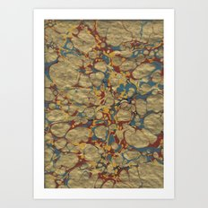 Marbled Gold Art Print