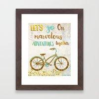 Let's Go On Marvelous Ad… Framed Art Print