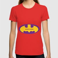 Bartman Womens Fitted Tee Red SMALL