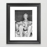 Abraham Lincoln At The L… Framed Art Print