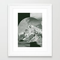 Framed Art Print featuring Darklands by Katty Bouthier