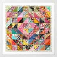 Art Print featuring Grandma's Quilt by Rachel Caldwell