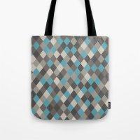 Harlequin Grey Tote Bag