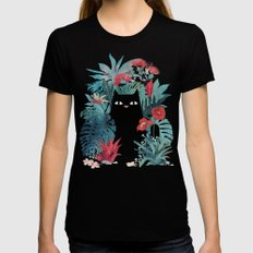 Popoki Womens Fitted Tee Black SMALL