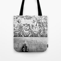 street musician Tote Bag