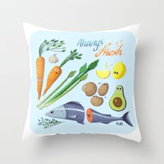 Always fresh Throw Pillow
